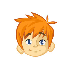 cartoon small blond boy vector image
