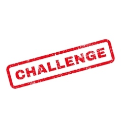 Challenge Text Rubber Stamp vector
