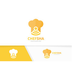 chef hat and wifi logo combination kitchen vector image