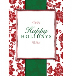Christmas frame and pattern vector image