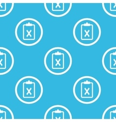 Clipboard NO sign blue pattern vector