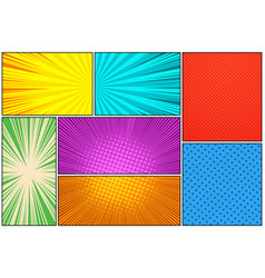 Comic book colorful composition vector