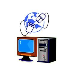 computer internet vector image