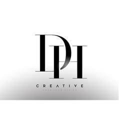 Dh hd letter design logo logotype icon concept vector