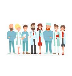 doctors team happy vector image