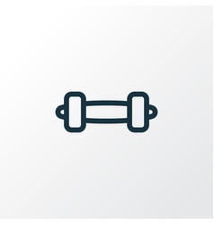 dumbbell icon line symbol premium quality vector image