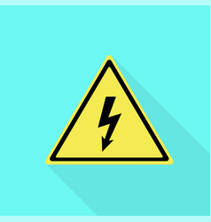 electric yellow sign icon flat style vector image