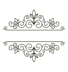 Elegant frame banner floral elements vector image