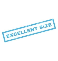 Excellent Size Rubber Stamp vector