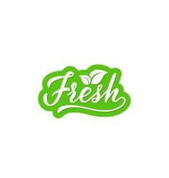 Fresh hand drawn lettering vector