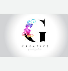 G vibrant creative leter logo design with vector