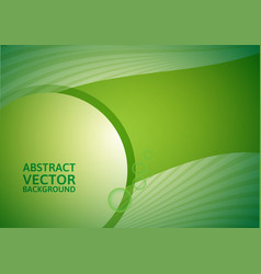 Green abstract background with copy-space vector