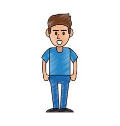 guy isolated cartoon vector image