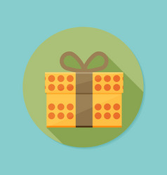 Icon of gift box with long shadow vector