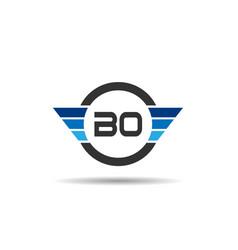 initial letter bo logo template design vector image