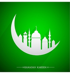 Islamic holy month Ramadan emblem vector