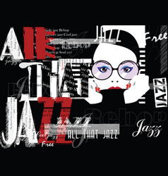 Jazz music poster background template front view vector