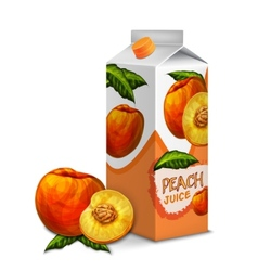 Juice pack peach vector image