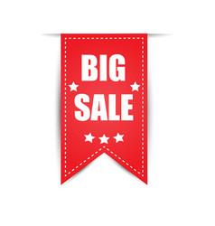 labels big sale red vector image