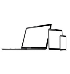 laptop tablet phone mock up vector image