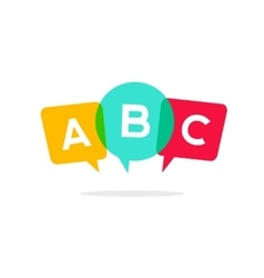 Learn ABC letters icon child speaking vector