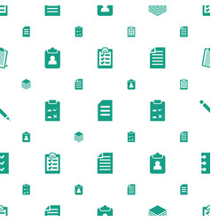 List icons pattern seamless white background vector