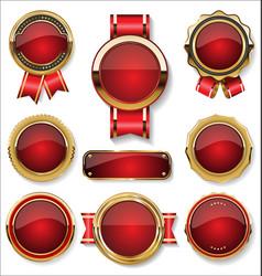 luxury premium golden badges and labels vector image