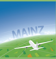Mainz flight destination vector