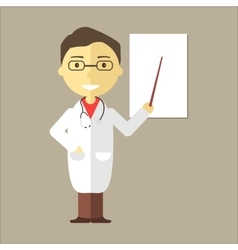 Male Doctor with Stethoscope vector image