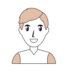 Man smiling profile vector