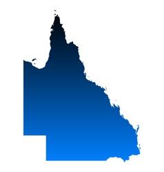Map of Queensland vector image