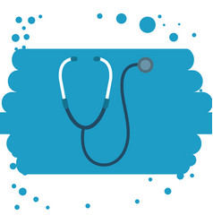 medical stethoscope device icon vector image