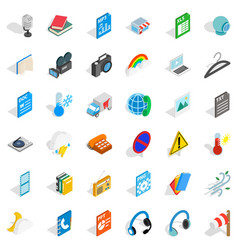 Mobile file icons set isometric style vector