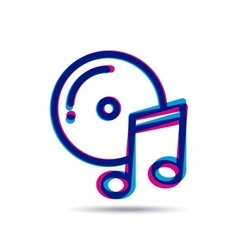 Music mobile design vector