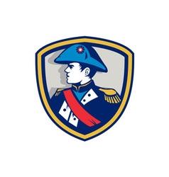 Napoleon Bonaparte Bicorn Hat Crest Retro vector