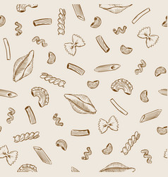 pasta set seamless pattern vector image