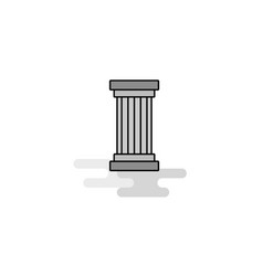 Piller web icon flat line filled gray icon vector