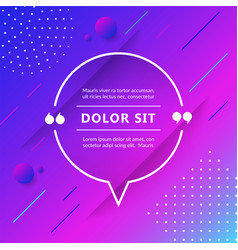 quote box isolated on trendy geometric background vector image