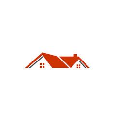 real estate logo home design vector image