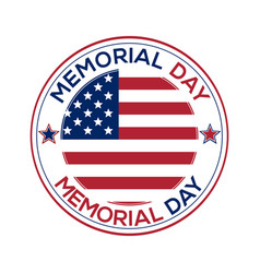 round banner for memorial day vector image vector image