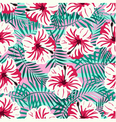 Rtopical pattern on pink vector