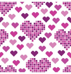 seamless pattern with lots of pink hearts vector image