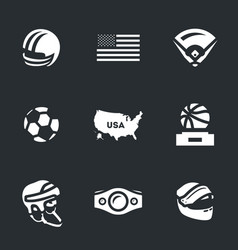 set america symbols icons vector image