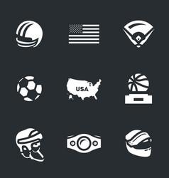 set of america symbols icons vector image