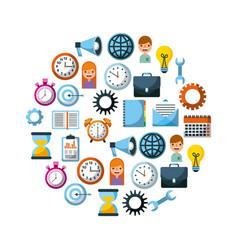 set of business element social media design vector image