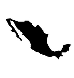 simple only sharp corners map mexico drawing vector image