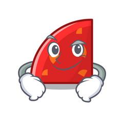 smirking quadrant character cartoon style vector image