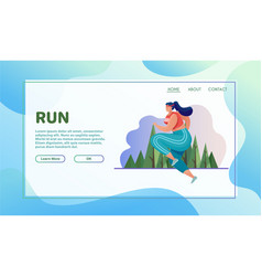 sport activities flat running vector image