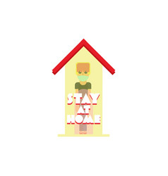 Stay at home theme vector