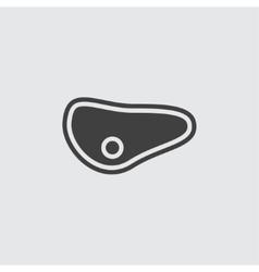 Steak icon vector